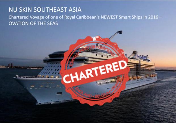 THE OVATION OF THE SEAS, chartered by NuSkin Enterprise. khusus membawa para STAR dan STAR Creator NuSKin SouthEast Asia.